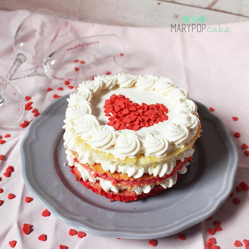 pink cake, torta di san valentino